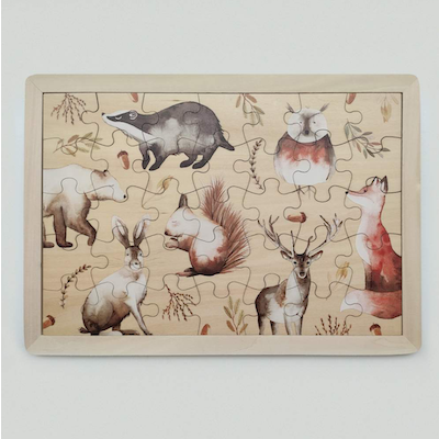 Holzpuzzle Tiere
